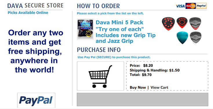 Buy Dava Picks - dava_mini_5_pack