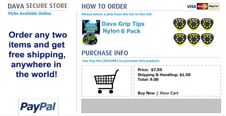 Buy Dava Picks - grip_tips_nylon