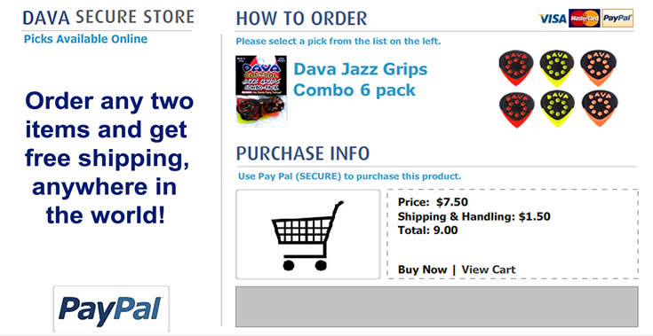 Buy Dava Picks - jazz_grips_combo