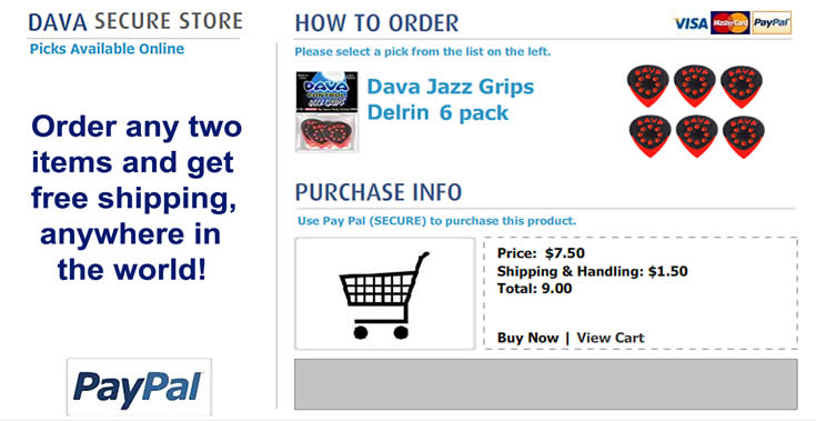 Buy Dava Picks - jazz_grips_delrin