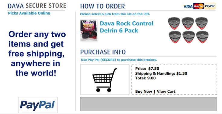 Buy Dava Picks - rock_control_delrin